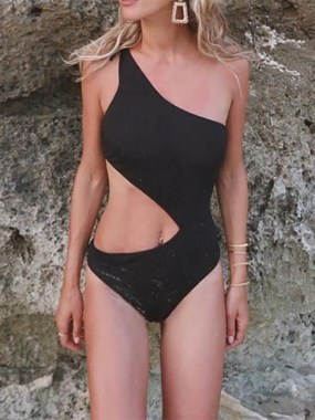 19 Stylish Summer Season Sexy Off Shoulder One Piece Swimsuit Ideas 23