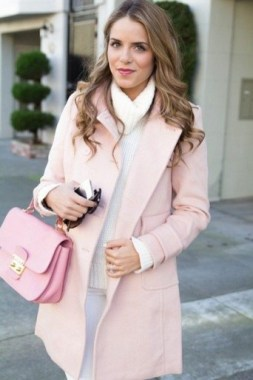 20 Latest Pink Pastel Coat Outfit Ideas 13