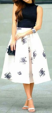 20 Lovely Floral Skirt Dresses Outfits Ideas For Spring 2019 20