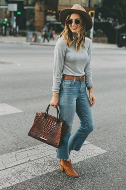 20 Trending Crop Jeans Winter Outfits Ideas 09