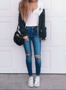 21 Casual Teen Outfits For School With Vans 29