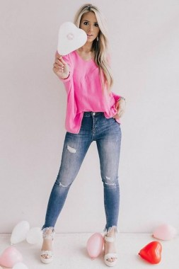 21 Elegant Ankle Jeans Ideas For Valentines Day 26