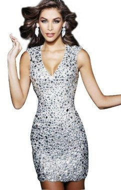 21 Modern Sequined Dresses Christmas New Year Parties Ideas 01