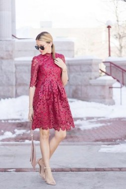 21 Stunning Red Pink Cocktail Dresses Ideas For Valentine'S Day 11