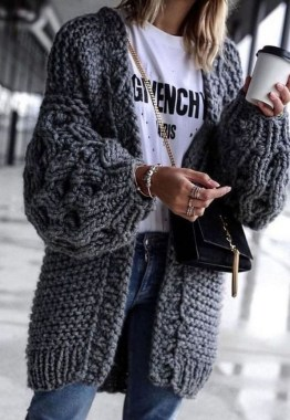 22 Amazing And Chic Cardigans Ideas You Should Already Own 34