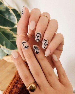 22 Cool Winter Aesthetics For 2020 Nail Art Trends 09
