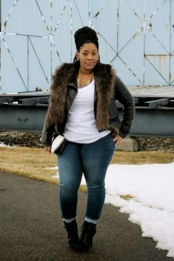 22 Tips To Look Chic And Pretty With Plus Size Winter Outfits 22