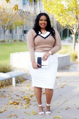 22 Tips To Look Chic And Pretty With Plus Size Winter Outfits 25
