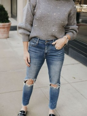 23 How To Wear Denim For Casual Thanksgiving Outfits 10