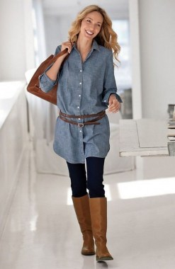 23 How To Wear Denim For Casual Thanksgiving Outfits 26