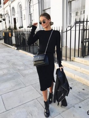 23 Ideas To Wear All Black Outfits For Winter 19