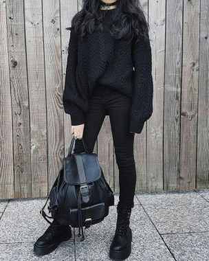 23 Ideas To Wear All Black Outfits For Winter 21