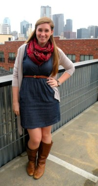 23 Ways To Wear Scarf For Thanksgiving And Christmas 16