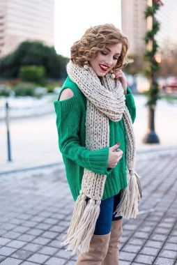 23 Ways To Wear Scarf For Thanksgiving And Christmas 23
