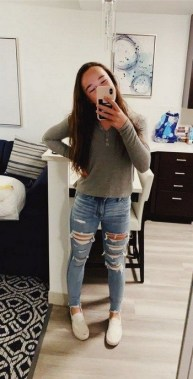 24 Fabulous Casual Outfit With Jean For Teen In Fall 26