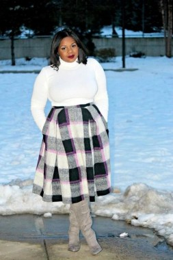27 Winter Work Outfit Combinations For Plus Size Women 27