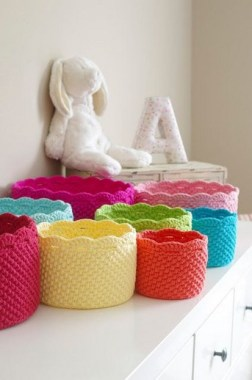 28 Amazing Crochet Baskets For Free Ideas 14