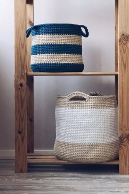 28 Amazing Crochet Baskets For Free Ideas 25