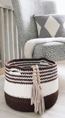 28 Amazing Crochet Baskets For Free Ideas 31