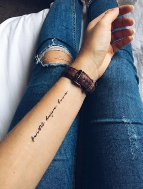 28 Small Quotes Tattoo Ideas For Your First Design 29