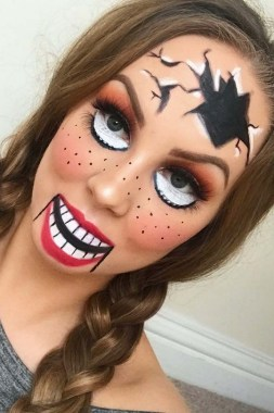 30 Best Halloween Makeup Ideas For Kids To Inspire 02