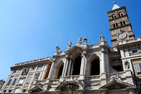 Fotos de Roma, fachada de la Basilica de Santa Maria Maggiore