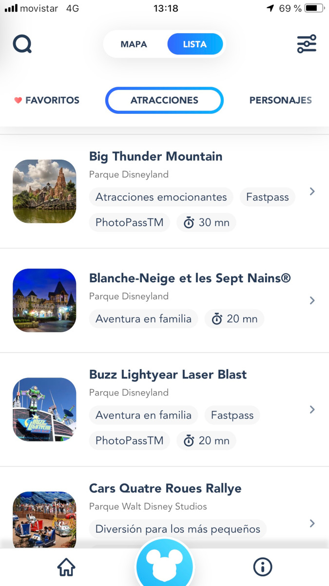 App de Disneyland Paris