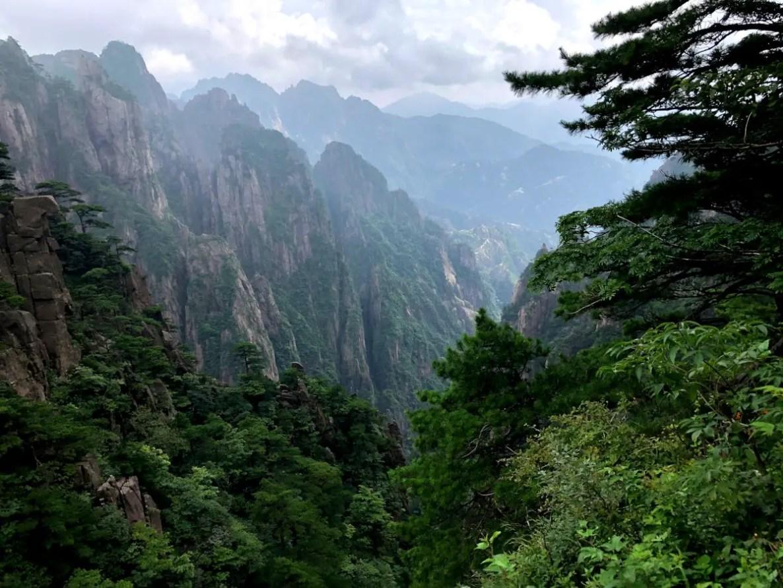 Paisaje de la Montaña Amarilla, Huangshan en China