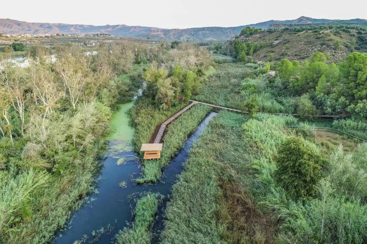 Reserva Natural de Sebes pasarela