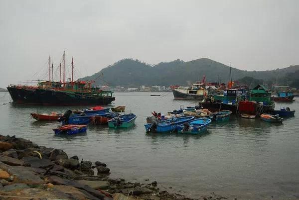 Barcos en Tai O