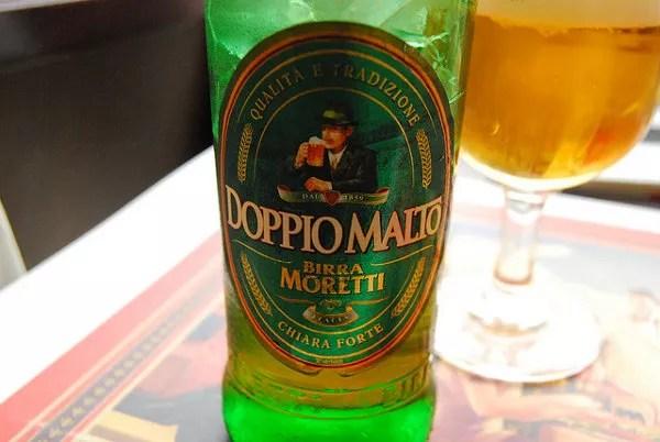 Birra Moretti Doppio Malto, cerveza italiana