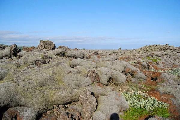 Campo de lava del volcán Laki