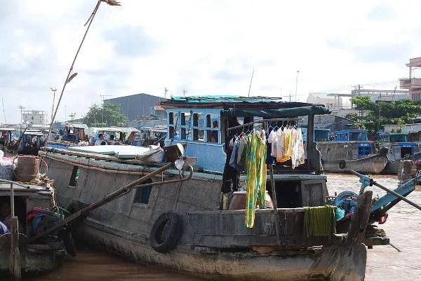 Casa flotante de Can Tho