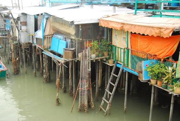 Casas flotantes de Tai O