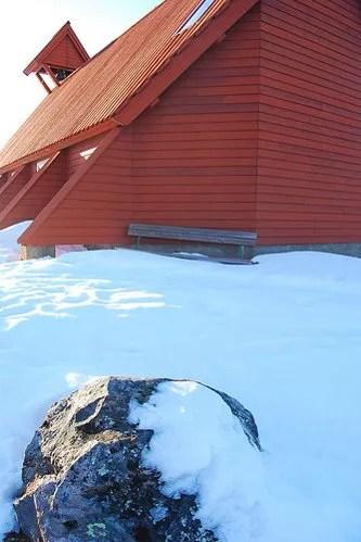 Cerca de la iglesia de Nikkaluokta