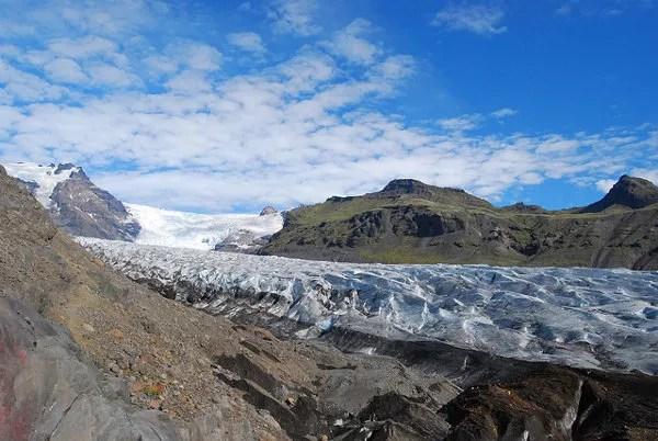 Día soleado en Svínafellsjökull