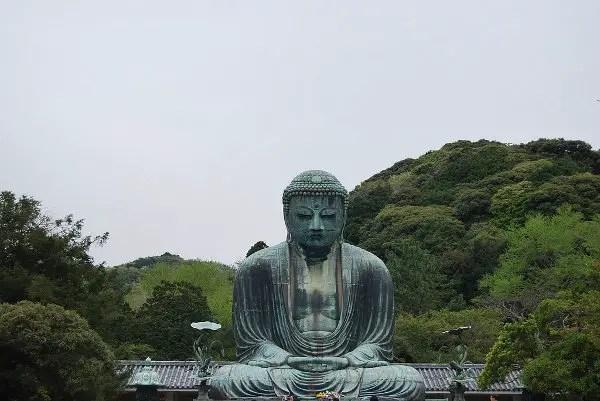 El Gran Buda de Kamakura de frente