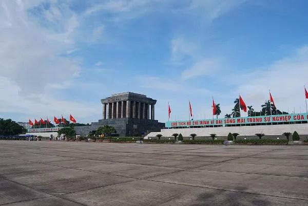 El Mausoleo de Ho Chi Minh en Hanoi
