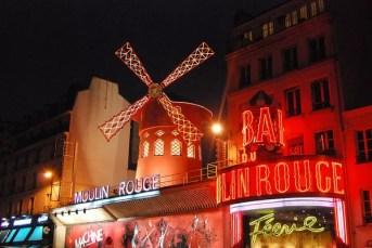 El Moulin Rouge en París