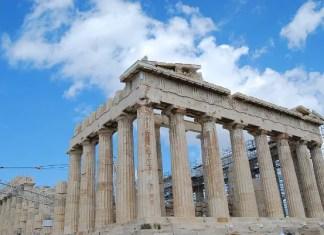 El Partenón de Atenas y sus andamios