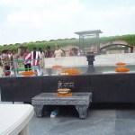 El Raj Ghat o Tumba de Gandhi en Nueva Delhi