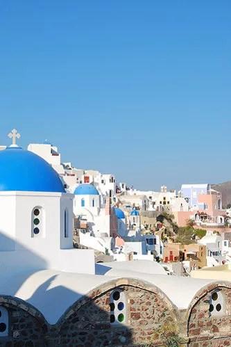 El bonito pueblo de Oía en Santorini