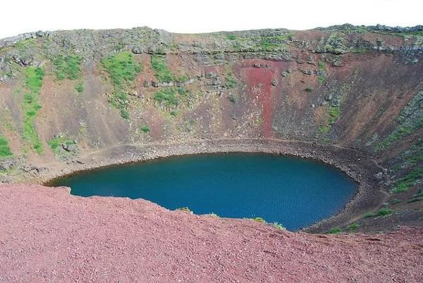 El cráter Kerið en Islandia