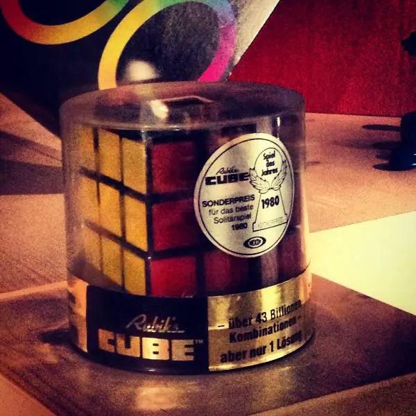 El cubo de Rubik en el Museo del Juguete de Núremberg