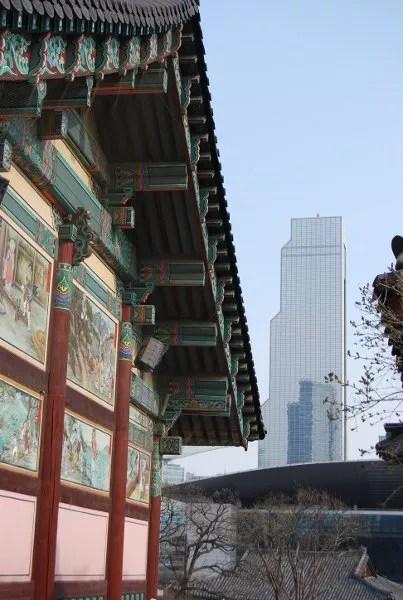 El templo Bongeunsa de Seúl en Gangnam