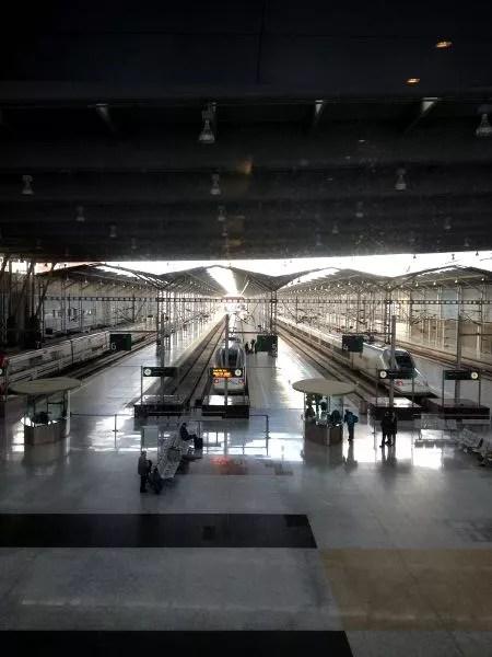 Estación María Zambrano desde el Barceló Málaga