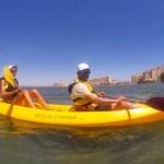 Fotos Mar Menor, Pau en el kayak