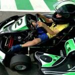 Fotos Salou, Teo preparandose en el Electric Karting Salou