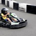 Fotos Salou, Teo tomando una curva en el Electric Karting Salou