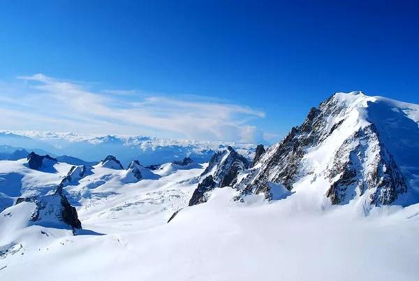 Fotos de Aiguille du Midi en Francia, cumbres nevadas